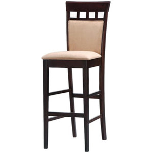 "Mix & Match 30"" Upholstered Panel Back Bar Stool with Fabric Seat"