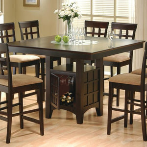 Mix & Match Counter Height Dining Table with Storage Pedestal Base