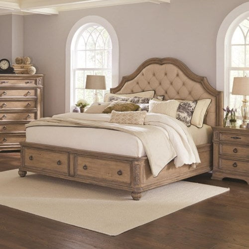 Ilana California King Storage Bed with Upholstered Headboard