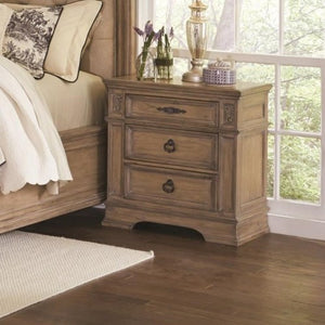 Ilana 3 Drawer Nightstand with Top Felt-Lined Drawer