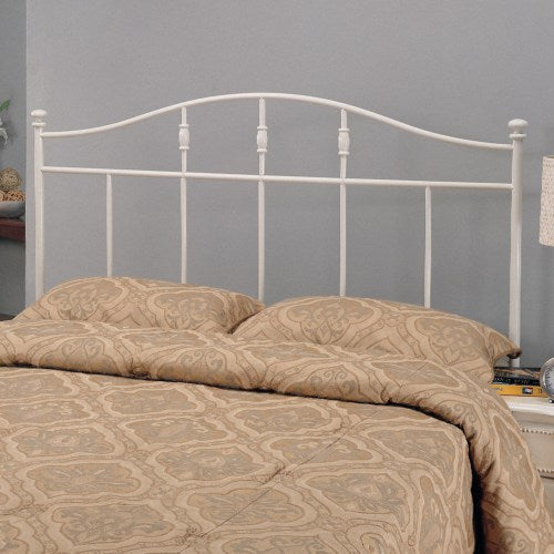 Iron Beds and Headboards Full/Queen Cottage White Metal Headboard