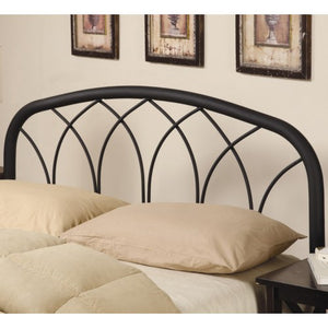 Iron Beds and Headboards Full/Queen Modern Black Metal Headboard