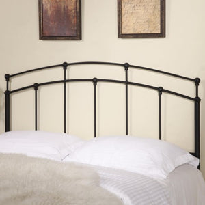 Iron Beds and Headboards Full/Queen Black Metal Headboard