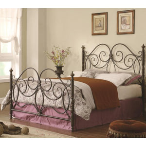 Iron Beds and Headboards Queen Iron Bed with Scroll Details