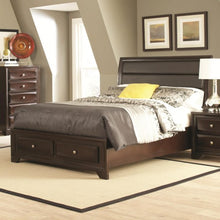 Load image into Gallery viewer, Jaxson King Bed with Upholstered Headboard and Storage Footboard