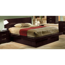 Load image into Gallery viewer, Jessica California King Platform Bed with Rail Seating and Lights