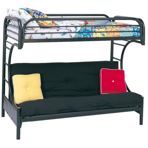 Metal Beds C Style Twin Over Full Futon Bunk Bed