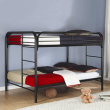 Load image into Gallery viewer, Metal  Full Over Full Bunk Bed 460056BLK CST