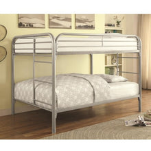 Load image into Gallery viewer, Metal  Full Over Full Bunk Bed 460056SV CST