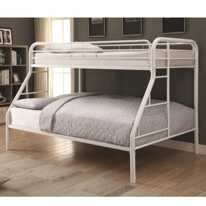 Metal Beds Twin Over Full with Side Ladders
