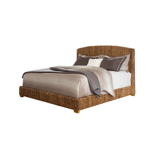 Laughton Woven Banana Leaf Queen Bed