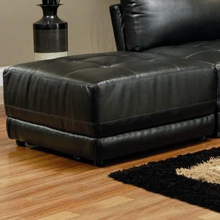 Kayson Contemporary Leather Ottoman