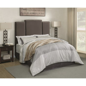 Lawndale Queen Upholstered Headboard in Grey Velvet