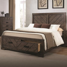 Load image into Gallery viewer, Lawndale Rustic Queen Size Storage Bed