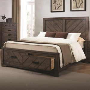 Lawndale Rustic Queen Size Storage Bed