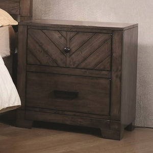 Lawndale 2 Drawer Rustic Nightstand