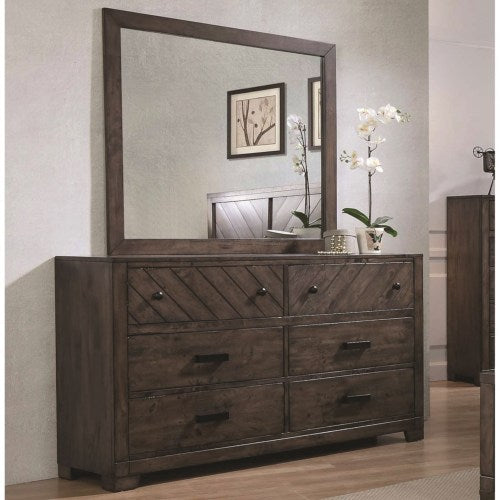 Lawndale 6 Drawer Dresser with Landscape Mirror