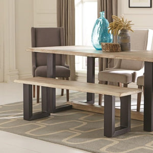 Levine Contemporary Bench with U-Shaped Base