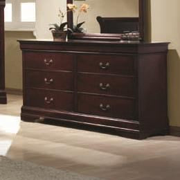 Louis Philippe 6 Drawer Transitional Dresser