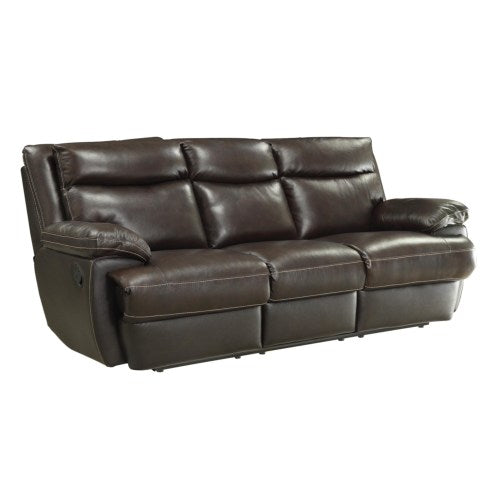 MacPherson Casual Leather Match Reclining Sofa