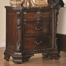 Load image into Gallery viewer, Maddison Nightstand with Carved Wood Detailing