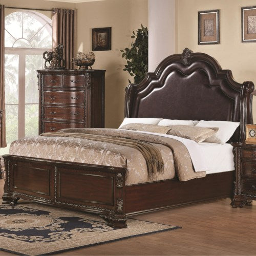 Maddison King Bed with Upholstered Headboard