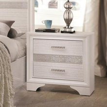 Load image into Gallery viewer, Miranda 2 Drawer Night Stand with Hidden Jewelry Tray