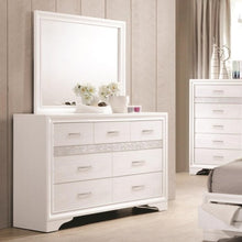 Load image into Gallery viewer, Miranda 7 Drawer Dresser & Mirror with Wood Frame
