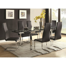 Load image into Gallery viewer, Modern Dining Contemporary Dining Room Set With Glass Table 106281/10051BLK