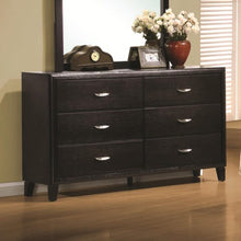 Load image into Gallery viewer, Nacey Stained Black 6 Drawer Dresser