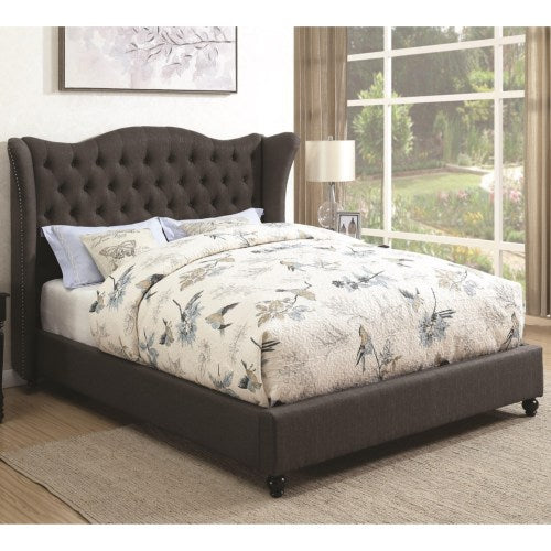 Newburgh Queen Upholstered Bed with Button Tufted Headboard
