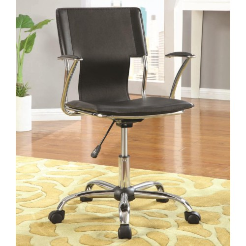 Office Chairs Contemporary Adjustable Height Black Task Chair