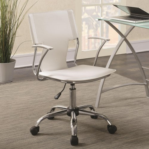 Office Chairs Contemporary Office Chair with Upholstered Seat