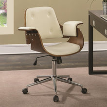 Load image into Gallery viewer, Office Chairs Mid-Century Modern Office Chair with Upholstered Seat