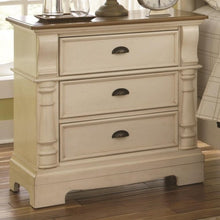 Load image into Gallery viewer, Oleta Night Stand with 3 Drawers and Bracket Feet