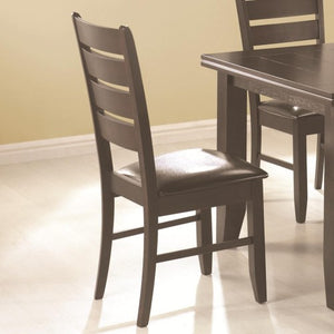 Page Contemporary Slat Back Dining Side Chair with Upholstered Seat