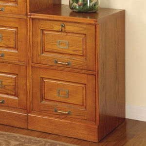 Palmetto Oak File Cabinet with 2 Drawers