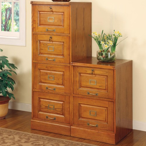 Palmetto Oak File Cabinet with 4 Drawers