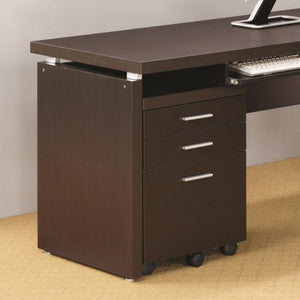 Skylar Mobile Pedestal with 3 Drawers and Casters