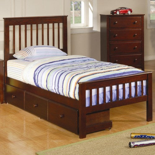 COASTER TWIN SLAT BED WITH STORAGE 400290T