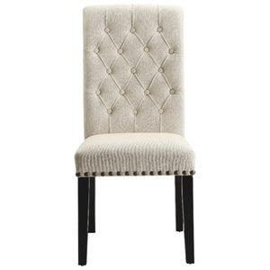 Parkins Upholstered Dining Side Chair with Button Tufting