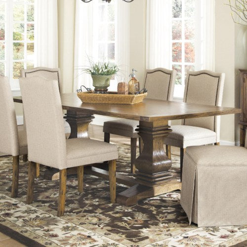Parkins Dining Table with Shaped Double Pedestals