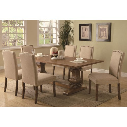 Parkins 7 Piece Dining Table and Parson Chair Set