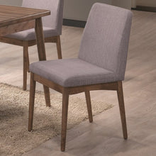 Load image into Gallery viewer, Pasquil Mid Century Modern Dining Chair with Gray Upholstery