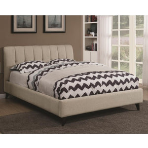 Portola Mid Century Modern Upholstered Twin Bed