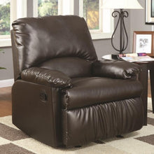 Load image into Gallery viewer, Recliners Split Back Vinyl Upholstered Glider Recliner