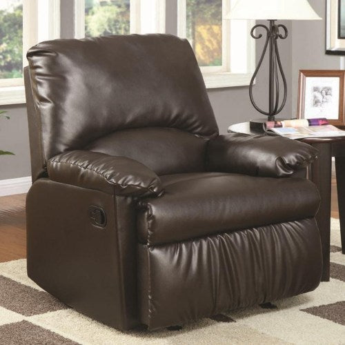 Recliners Split Back Vinyl Upholstered Glider Recliner