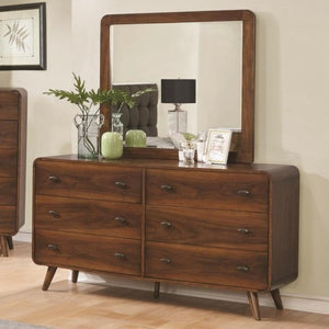 Robyn  6 Drawer Dresser and Mirror BY COASTER 205133/205134