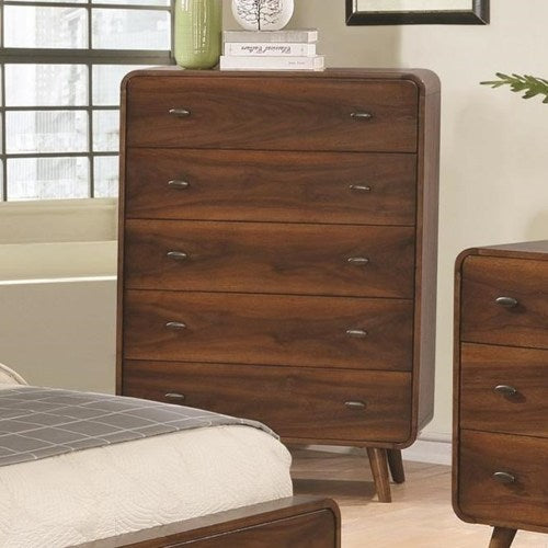 Robyn Mid-Century Modern 5 Drawer Chest