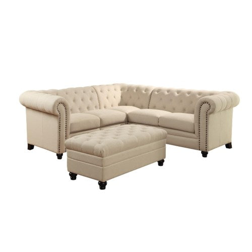 Roy Button-Tufted Sectional Sofa